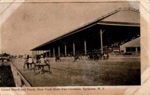 Grand Stand and Track, NY State Fair Grounds Syracuse c1908 Vintage Postcard G01