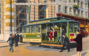 Cable Car at Powell & Market St., San Francisco, CA., Early Postcard, Unused
