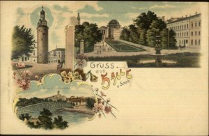 Gruss aus Halle a Saale c1900 Multi View Postcard