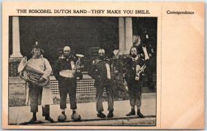 Boscobel, Wisconsin Postcard THE BOSCOBEL DUTCH BAND They Make You Smile 1910s