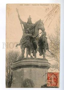 236408 FRANCE PARIS Charlemagne statue 1915 y RPPC to Ethiopia