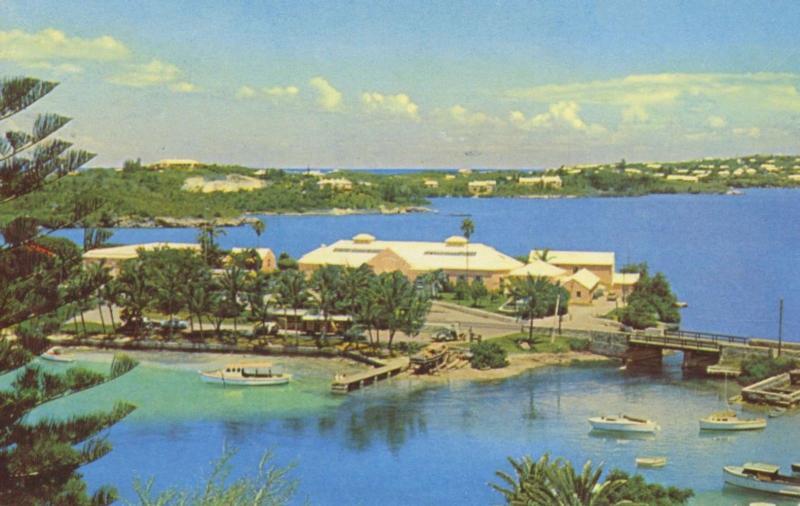Flatts Inlet Harrington Sound Bermuda c1959 Vintage Postcard D28