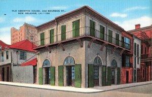 Postcard Old Absinthe House Bourbon Street New Orleans Louisiana