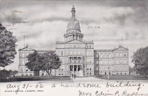 Michigan Lansing State Capitol Building 1906