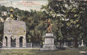 NEWPORT, Rhode Island, 1900-1910's; The Old Mill 7 Chaning Statue, Truro Park
