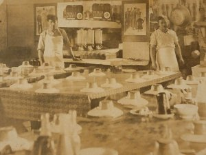 RPPC Turn Of The Century Catering Hall. Restaraunt Brothers Antique China FR-G
