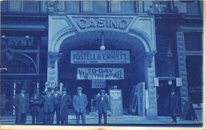 Detroit MI Casino Vaudeville Posters AL Fostell Comic Performer RPPC Postcard