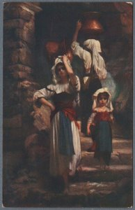 Old Postcard French Women Water Carriers - The Cervarolles by Ernest Hebert