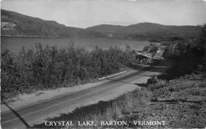 BARTON VERMONT Crystal Lake 1940s RPPC Real photo postcard 3425