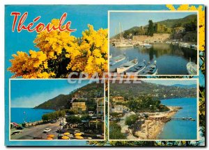 Postcard Modern Theoule Riviera General view and beach