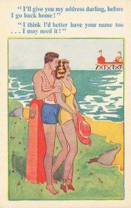 Comic Postcard Garland, Rudolf & Co. W109, Seaside Joke, Humour KL5