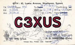 Newhaven Sussex QSL Amateur Radio 1960s Postcard