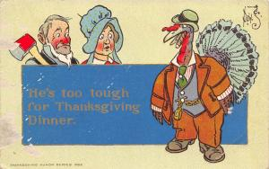 Thanksgiving Fantasy~Dressed Turkey Smokes Cigar~Couple: Too Tough~Artist~AMP