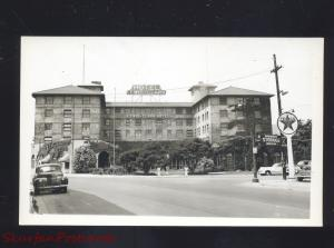 RPPC LEWISTON IDAHO LEWIS CLARK HOTEL 1940's CARS VINTAGE REAL PHOTO POSTCARD