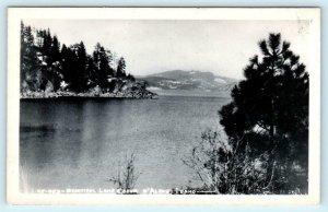 RPPC  COEUR d'ALENE, Idaho ID  View of BEAUTIFUL LAKE 1948  Postcard