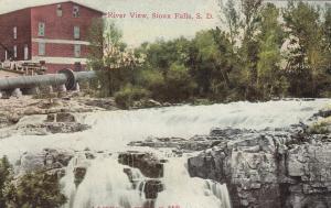 SIOUX FALLS, South Dakota, 1900-10s; River View, Falls