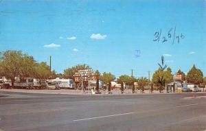 Deming New Mexico Martins Trailer Park Street View Vintage Postcard K85661