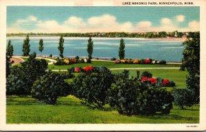 Minnesota Minneapolis Lake Nokomis Park Curteich