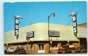 Santa Rosa California CA Greyhound Bus Depot Post House Restaurant Postcard E44