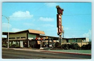 BARSTOW, California CA~ Roadside IMPERIAL 400 MOTEL Route 66 ~1960s-70s Postcard