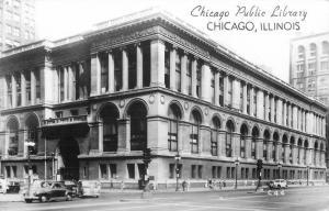 Autos CHICAGO ILLINOIS 1940s Public Library Groganized RPPC real photo 4047