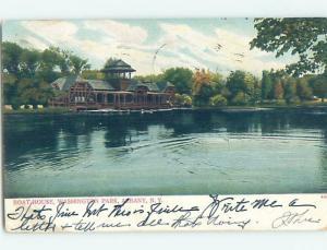 Pre-1907 WASHINGTON PARK BOATHOUSE Albany New York NY G2638