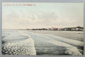 Beach From The Pier, Old Orchard ME Vintage UDB Postcard (#7253)