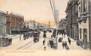King William Street Scene, Adelaide, South Australia ca 1907 Vintage Postcard