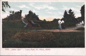 St Paul Minnesota Gates Ajar at Como Park, Ladies walking up the stairs