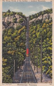 Chattanooga TN Tennessee Steep Incline Railroad on Lookout Mountain pm 1945