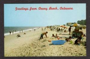 DE Greetings from DEWEY BEACH DELAWARE Postcard PC