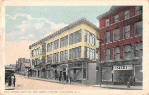 Pawtucket Rhode Island Main Street The Scenic Theatre Tailor Postcard JE229987