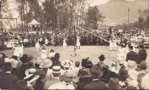 RP: May Day , May Pole Dance , girls, KAMLOOPS , B.C. , Canada , 1923 #1