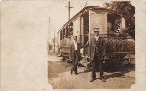 F82/ Occupational RPPC Postcard c1910 Trolley Streetcar Conductor 5