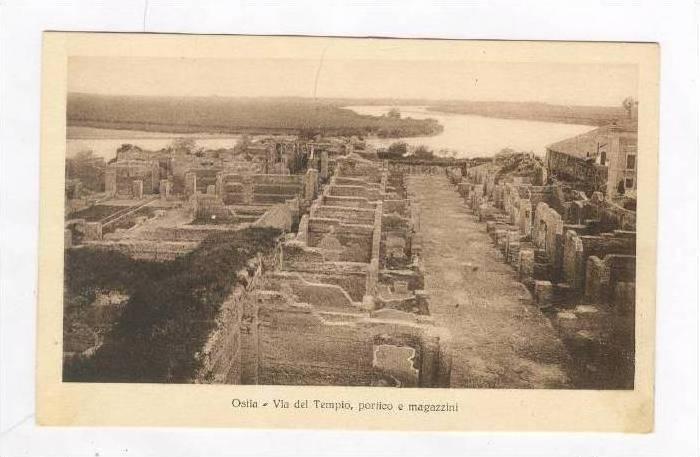 Via Del Tempio, Portico e Magazzini, Ostia (Rome), Lazio, Italy, 1900-1910s
