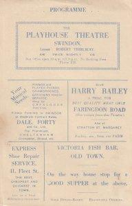 Swindon Theatre Wiltshire Radio Revels Old Musical Programme