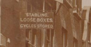 Bicycle Cycle Storage Centre High Street Eton Antique Real Photo Postcard