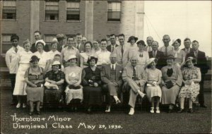 Kansas City? Thornton & Minor Dismissal Class 1936 Real Photo Postcard xst