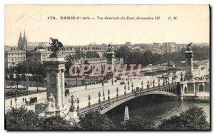 Postcard Old Paris 7 stop General view of Alexander III bridge