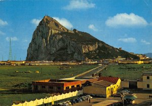 Gibraltar North view of the Rock of Abraltar Panorama Postcard