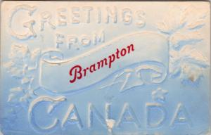 Greetings from Brampton Ontario ON Ont Antique Postcard E19 *As Is