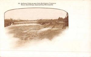 Minneapolis Minnesota St Anthony Falls Antique Postcard K51220