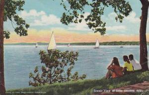 Scenic view of Lake Okoboji, Iowa, PU-1949