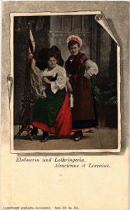 CPA AK Alsacienne et Lorraine - Elsasserin und Lothringerin - Folklore (481620)