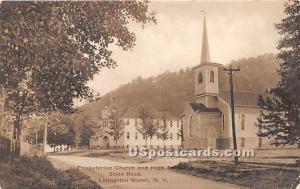 Presbyterian Church and High School Livingston Manor NY Unused