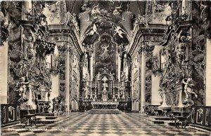 Lot 61 einsiedeln switzerland stiftsckirche hochaltar real photo