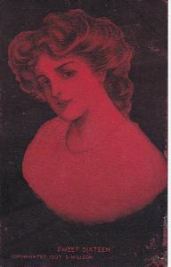 D Hillson Beautiful Lady Sweet Sixteen 1907