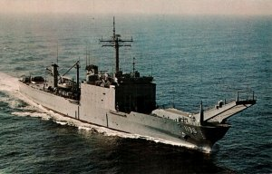 Postcard USS Harlan County LST-1196 Tank Landing Ship