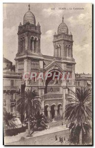 Old Postcard Tunis La Cathedrale