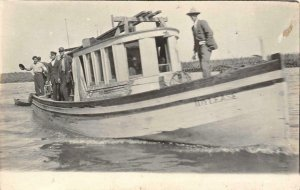 RPPC IDYLEASE Motor Boat Fishing Boat? ca 1910s Vintage Postcard
